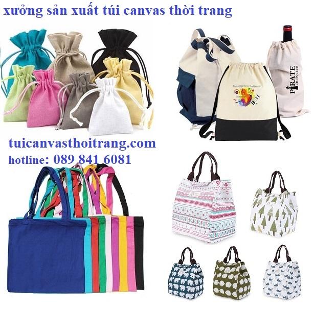 Xưởng sản xuất túi canvas thời trang