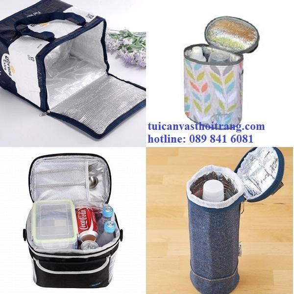Túi giữ nhiệt vải bố tráng bạc giá rẻ